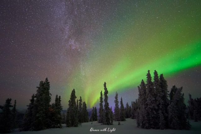 Alaska Aurora Milky Way